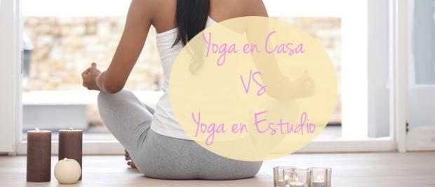 Yoga en casa VS Yoga en estudio